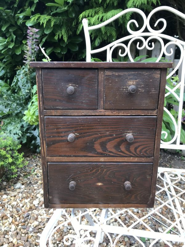 Small Pine Nest of Four Drawers – Sold