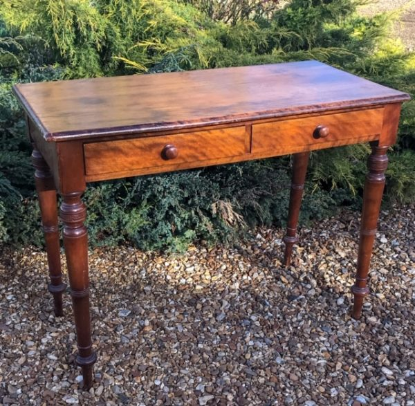 Victorian Mahogany Two Drawer Side Table – Sold