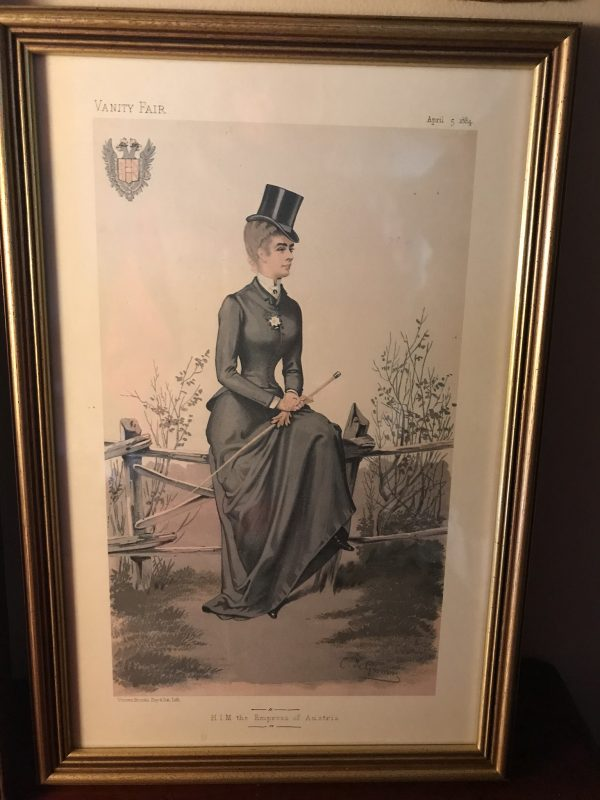 Framed Vanity Fair Print of H.I.M. The Empress of Austria 1884 – £25