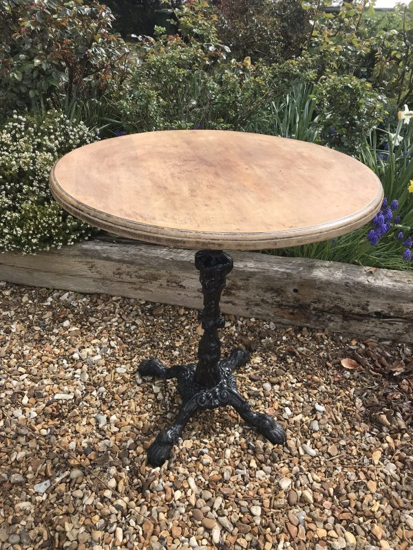 Pub Table with Cast Base – Sold