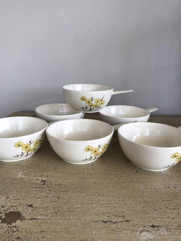 Six Retro Carltonware Soup Bowls – Sold