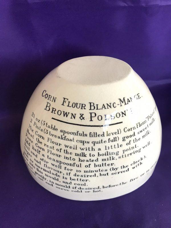 Vintage Brown and Polsons Corn Flour Blanc-Mange Mould – Sold