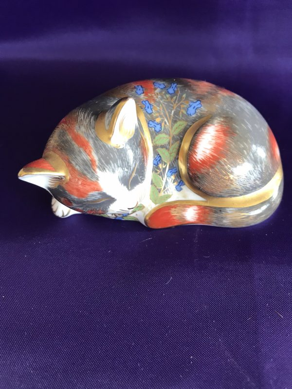 Royal Crown Derby Catnip Kitten Silver Stopper – Sold