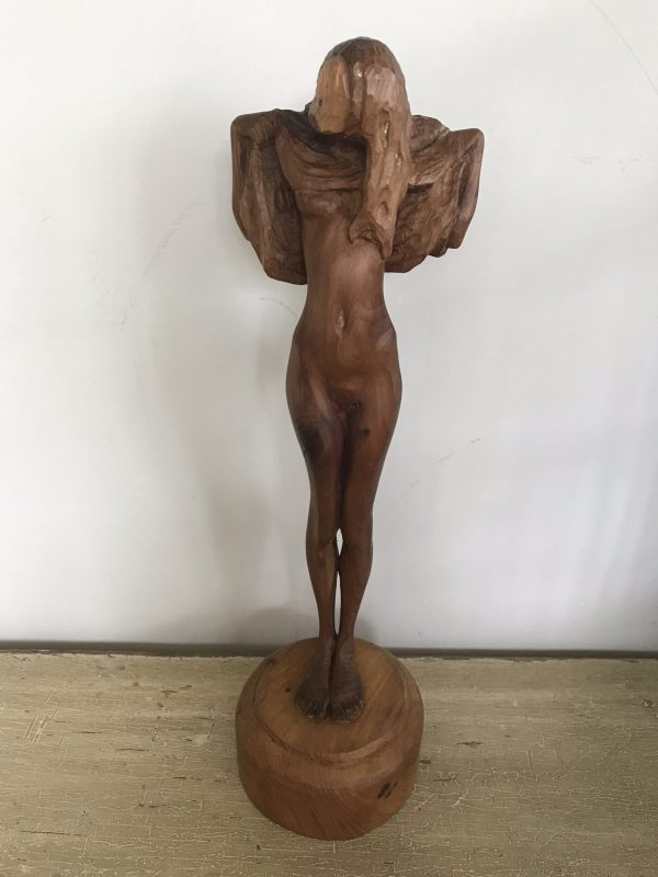 Wooden Carving of Nude Lady – Sold