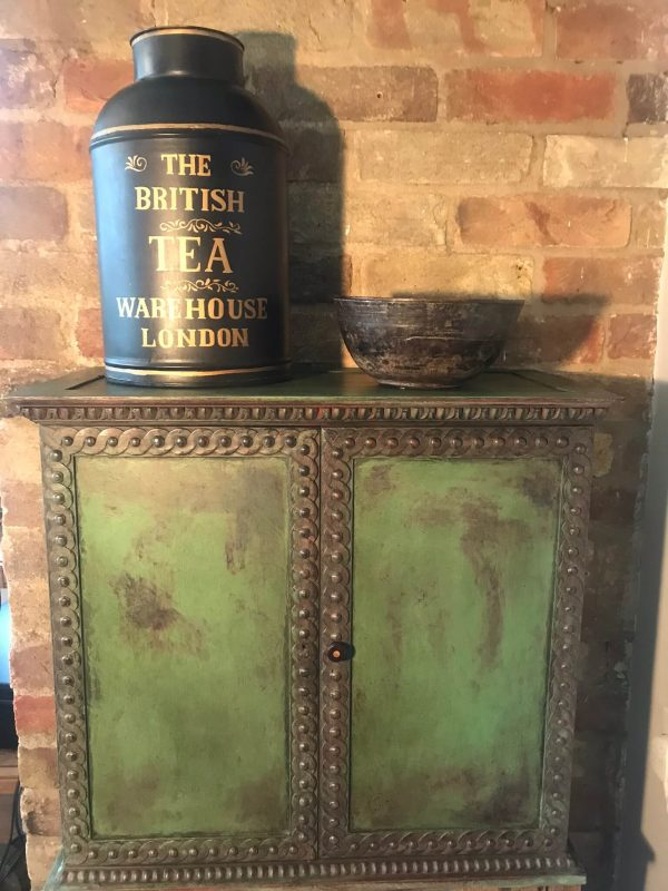 Antique Painted Wall Cupboard – Sold