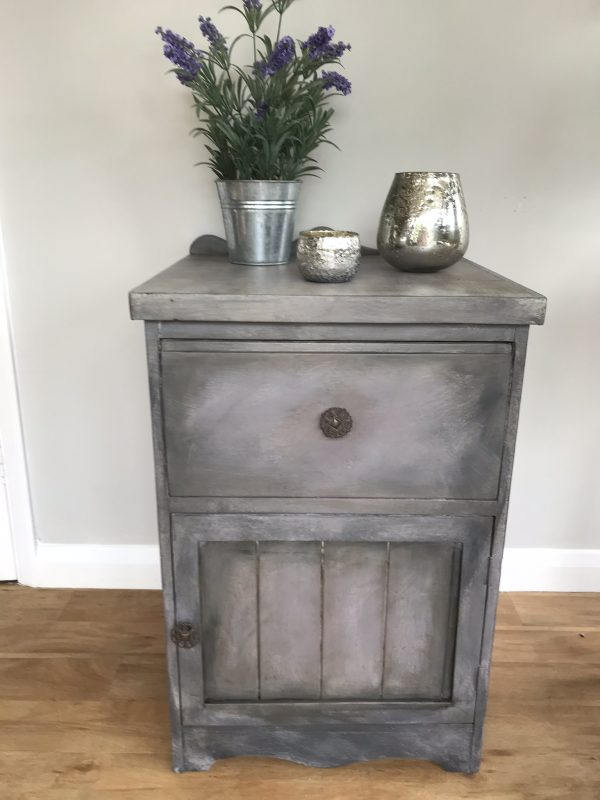 Painted Pine Bedside Cabinet – £38