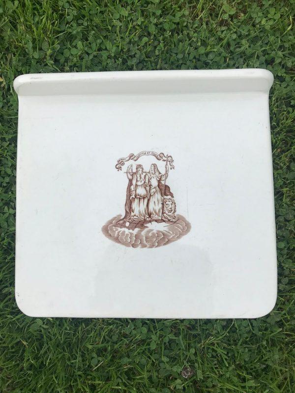 Vintage Kitchenalia Ironstone Scales Plate Justitia Et Fides – Sold