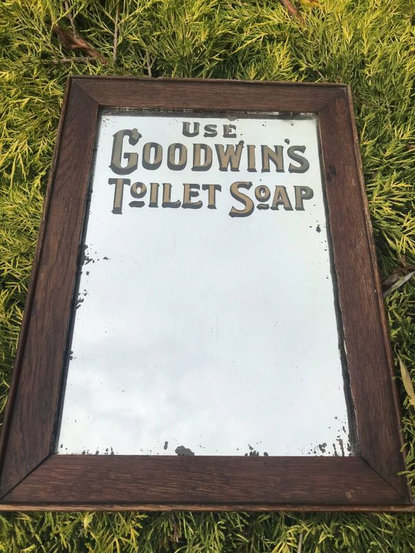 Vintage Goodwins Soap Advertising Mirror – Sold