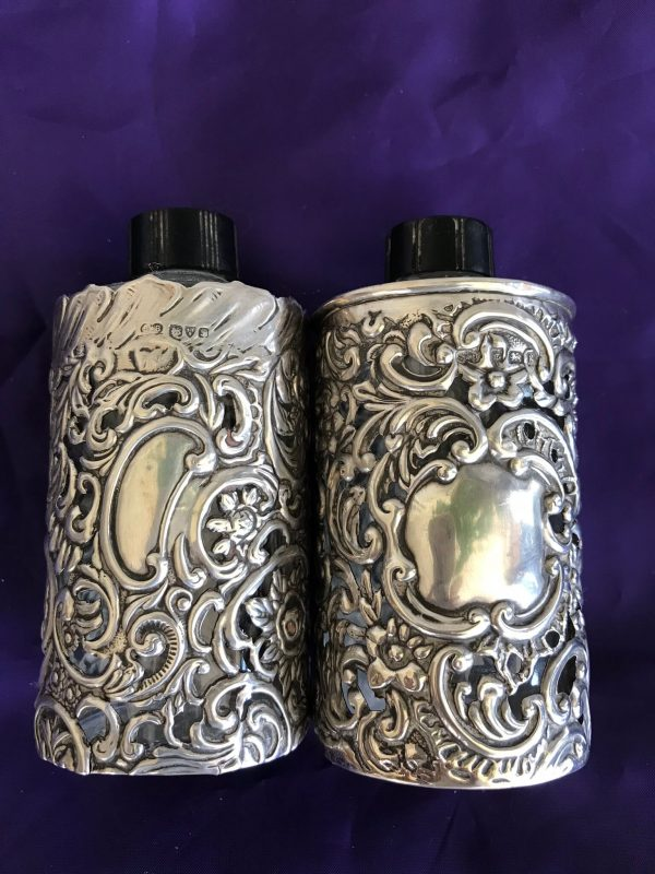 Two Vintage Yardley Bottles in Silver Sleeves – Sold