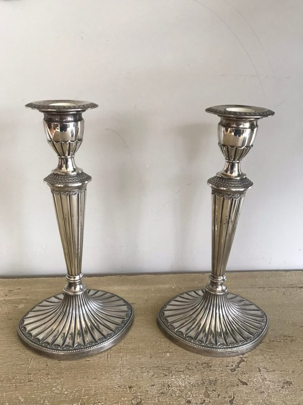 Pair of Falstaff Silver Plated Candlesticks – Sold