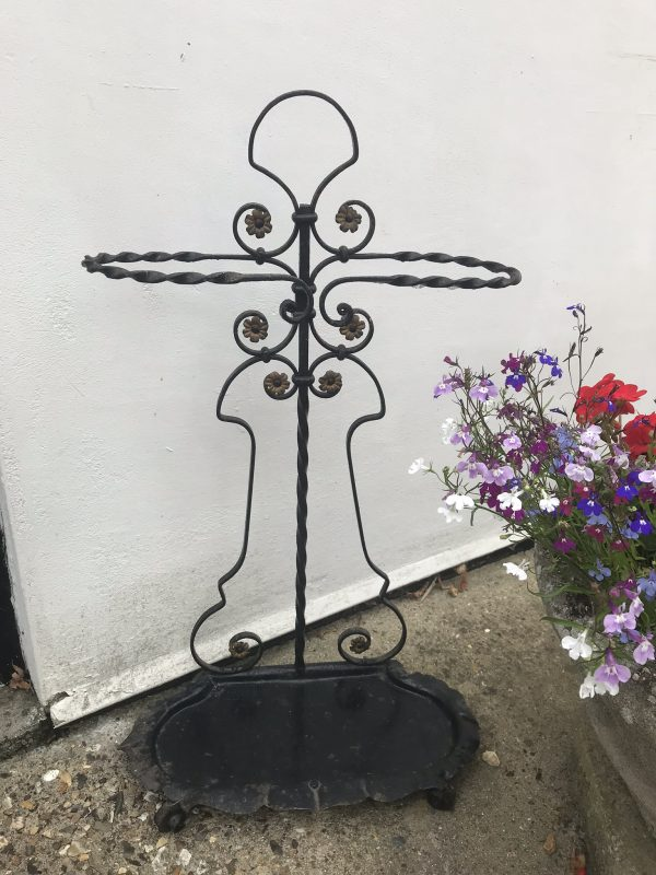 Wrought Iron French Style Stick Stand – Sold