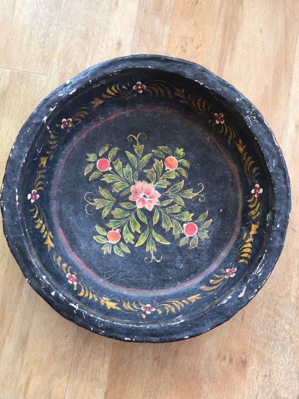 Hand Painted Papier Mache Bowl – Sold