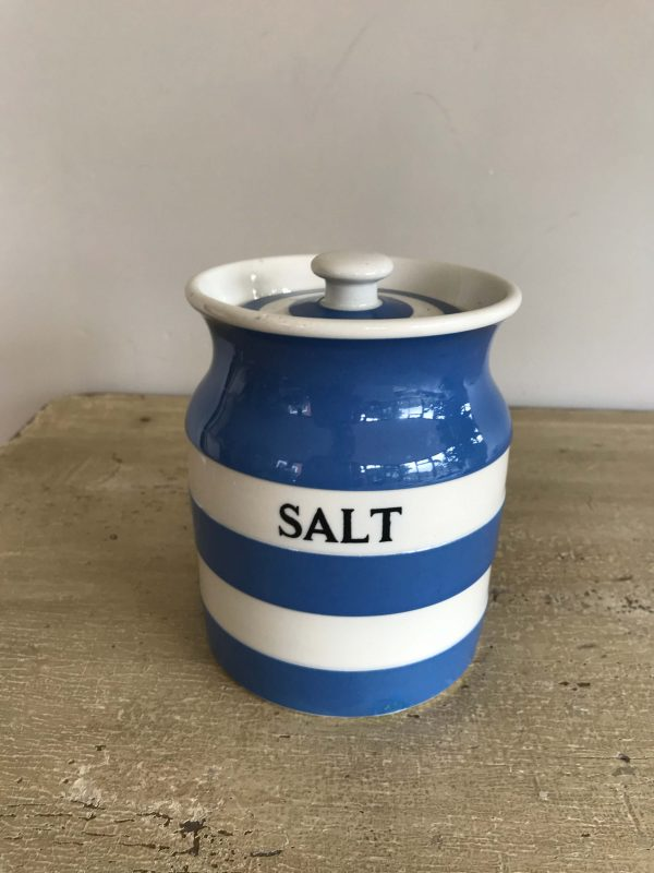 T G Green Cornishware Salt Container – Sold