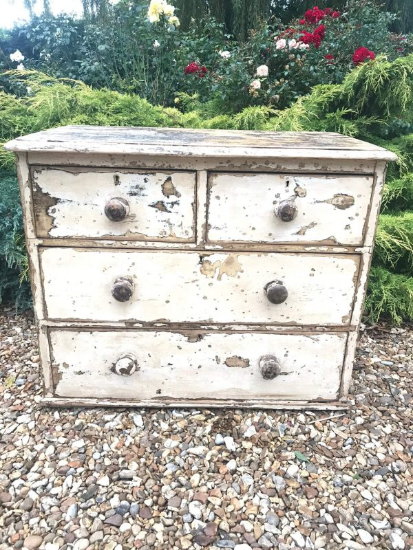 Victorian Chest of Drawers in Original Scaped Paint – Sold