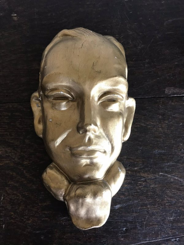 Art Deco Male Face Wall Plaque – £30