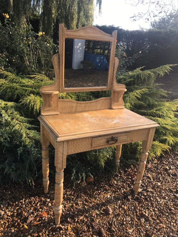 Antique Pine Dressing Table in Original Paint – £155