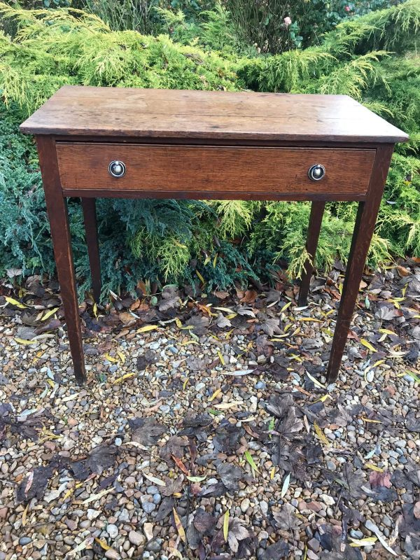 Antique Oak Side Table – £105