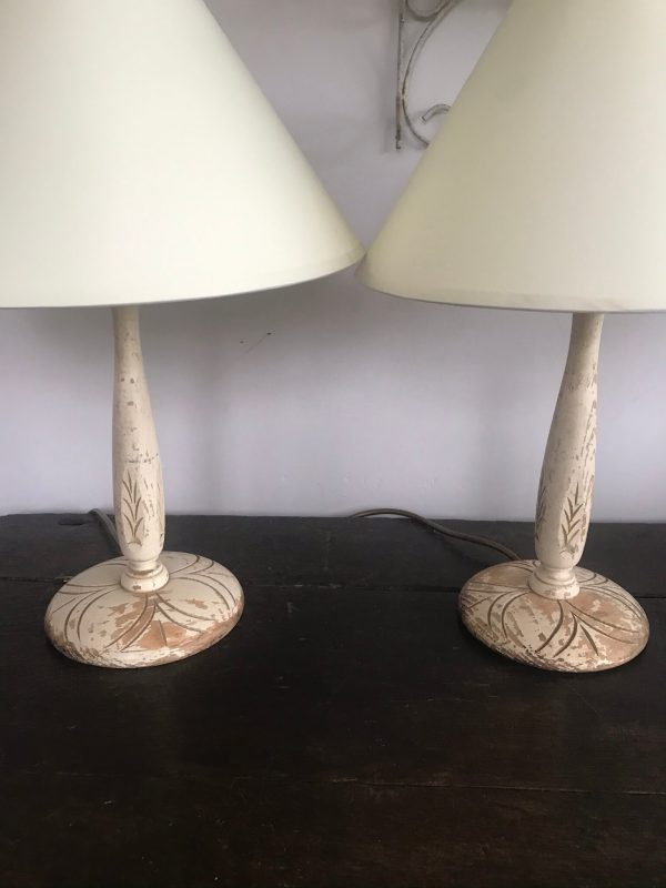 Pair of Vintage Painted Lamp Bases – Sold