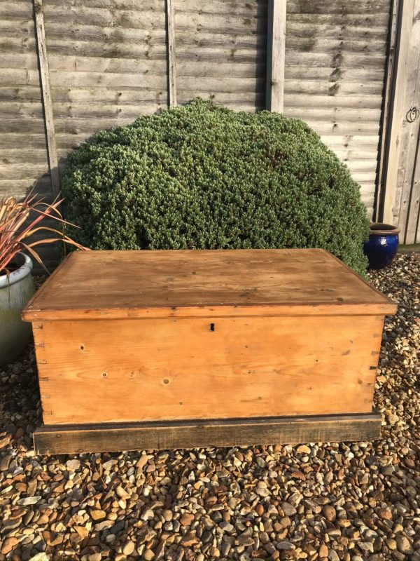 Antique Pine Blanket Box – Sold