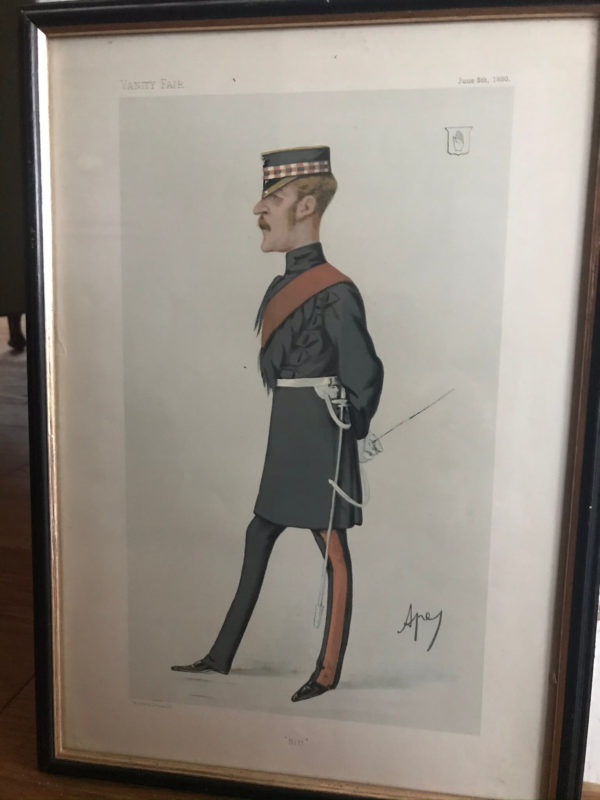 Framed Vanity Fair Spy Print – Sir William Gordon-Cumming 1880 – Sold