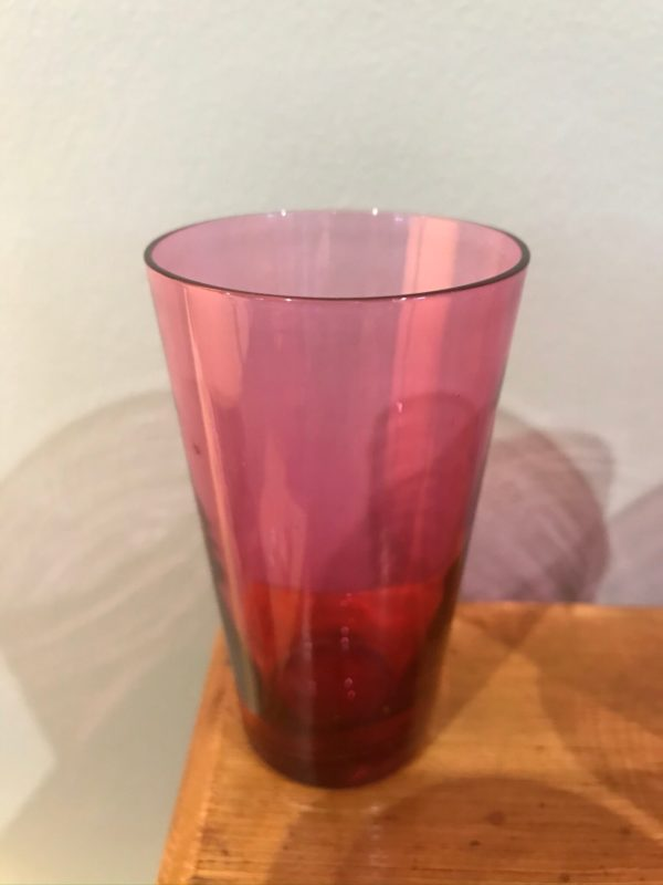 Cranberry Glass Shot/Port Glasses – £7 each