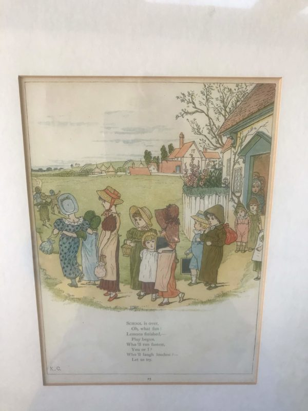 Framed Page from 'Under The Window' by Kate Greenaway – £25
