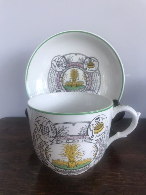 Adams Ironstone 'The Farmers Prayer' Large Cup and Saucer – Sold