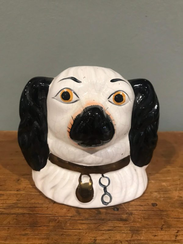 Vintage Staffordshire Wally Dog Money Box – £28