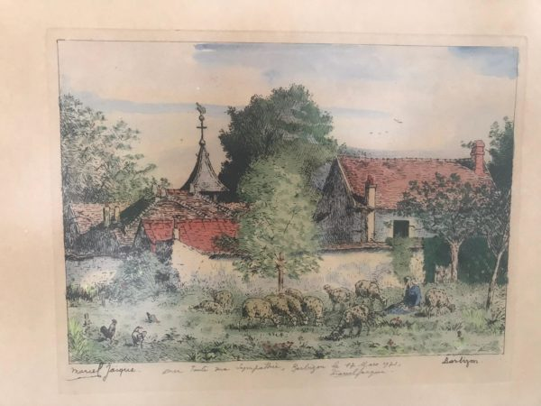Marcel Jacque Lithograph Barbizon, Signed in Margin Dated 1971 – £80