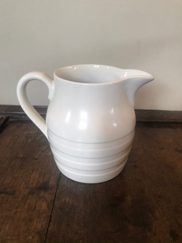 White Burleigh Ironstone Jug – Sold
