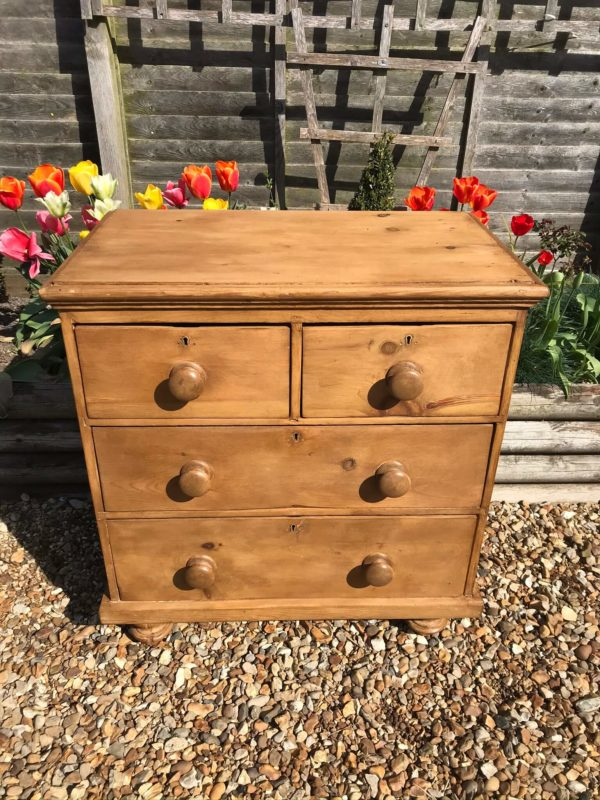 Small Victorian Pine Chest of Drawers – Sold