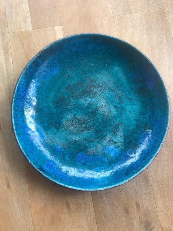 Studio Pottery Raku Plate/Bowl Anglesey Island Pottery – Sold