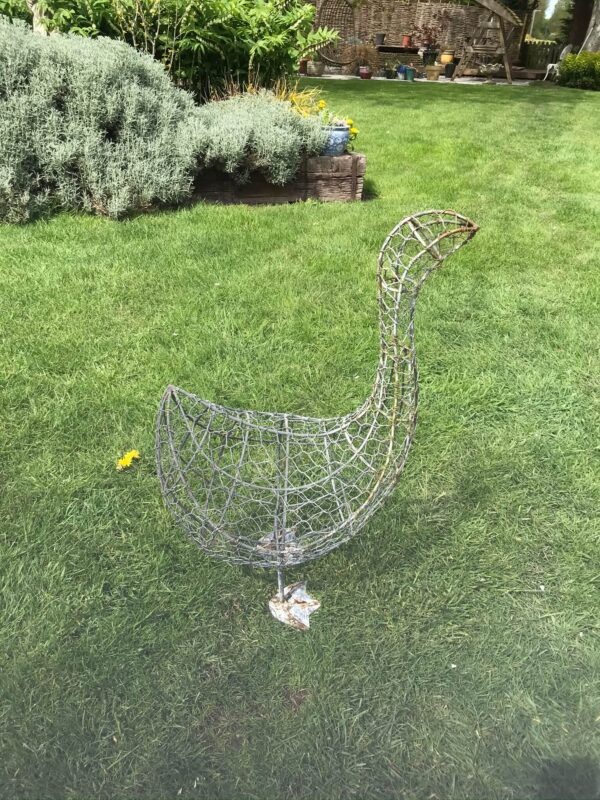 Large Wirework Goose Figure – SphagnumTopiary Frame- Sold