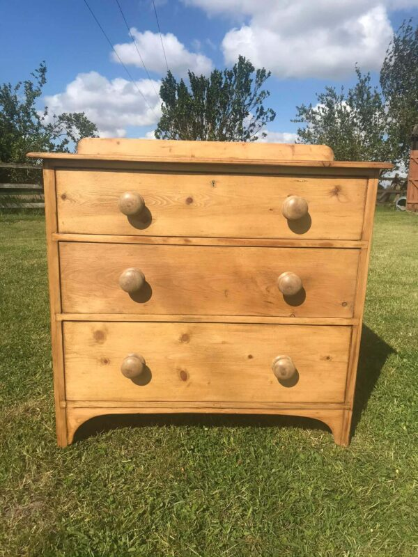 Antique Pine Chest of Three Drawers – £220