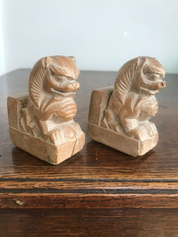 Pair of Small Vintage Soapstone Chinese Foo Dog Bookends- Sold