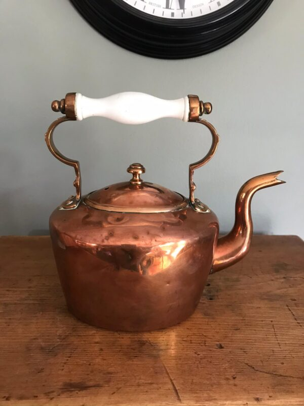 Lovely Victorian Copper Kettle of Small Proportions – Sold