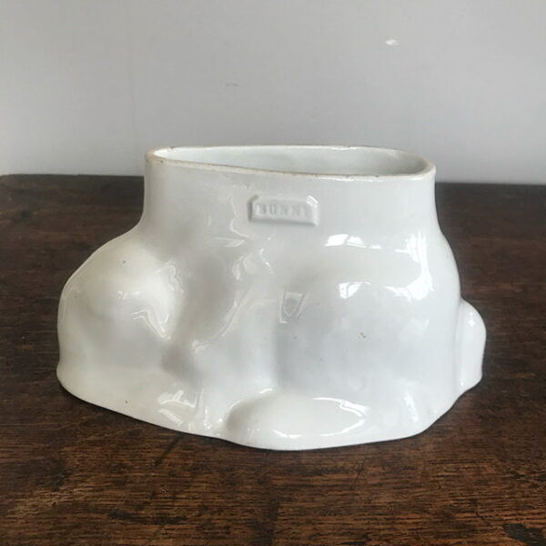 Victorian White Ironstone Bunny Jelly Mould – Sold