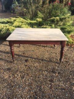 Victorian Pine Kitchen Table – £295