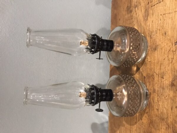 Pair of Vintage Oil Lamps – Sold