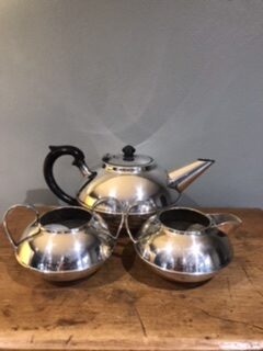 Art Deco Style 'Plato' EPNS Tea Set – £35