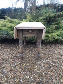 Victorian Pine Drop Leaf Scrub Top Kitchen Table – Sold