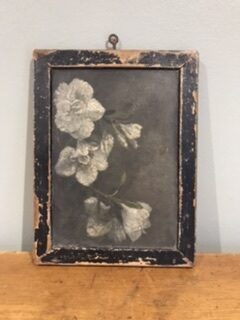 Victorian School Slate with Hand Painted Floral Decoration – Sold