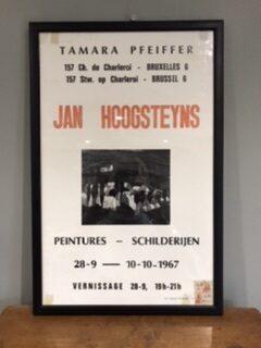 Original 1967 Art Exhibition Poster – Jan Hoogsteyns, Brussels – Sold