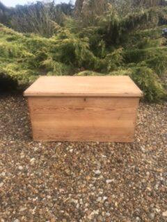 Antique Pine Blanket Box – Sold
