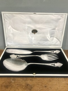 Antique Silver Plated Fish Servers – £55