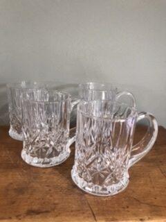 Four Cut Glass Half Pint Tankards – Sold